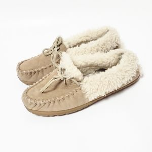 L.L. Bean Leather Tan Moccasins Size 9 Medium